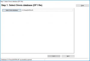 Select Omnis database